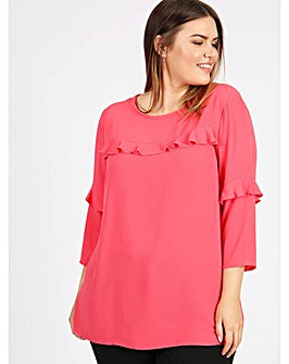 Lovedrobe GB Coral Frill Detail Blouse