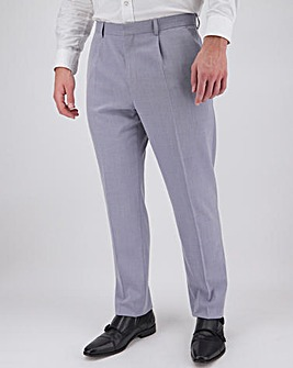 Lilac Harry Pleated Front Regular Fit Suit Trousers