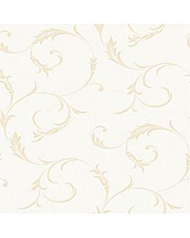 Superfresco Athena White Gold Wallpaper