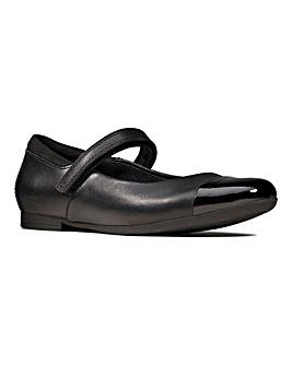 Clarks Scala Gem Kids Shoe F Fit