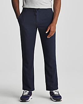 "Basic Tie Waist Linen Trouser 31"""