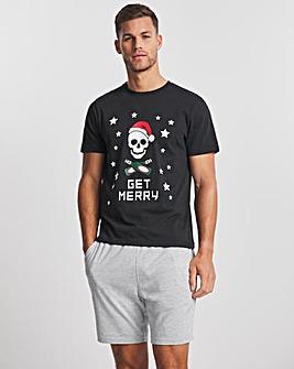 Christmas Skull Short PJ Set