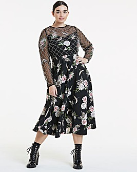 Joanna Hope Embellished Lattice Dress