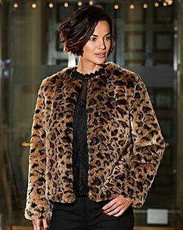 Joanna Hope Animal Print Coat