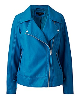 Joanna Hope Side Tie PU Jacket