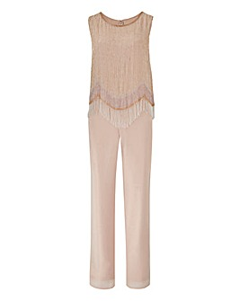 Joanna Hope Petite Beaded Jumpsuit