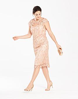Joanna Hope Short Sleeved Lace Dress