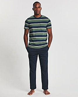 Navy Stripe T-Shirt And Pant Set