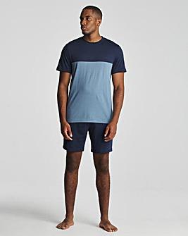 Cut & sew T-shirt & short set