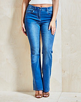 Kim High Waist Bootcut Jeans Regular