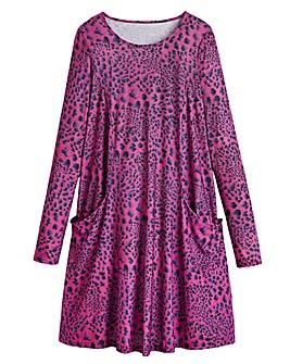 Animal Print Jersey Swing Dress - Tall
