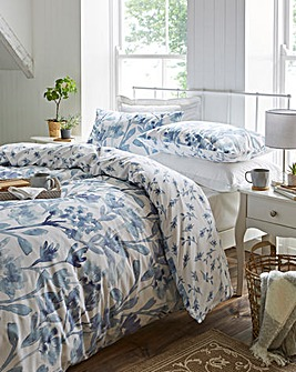 Lily Blue Reversible Duvet Cover Set