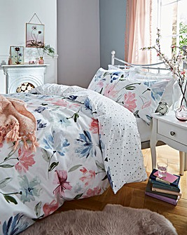 Mia Reversible Printed Duvet Set