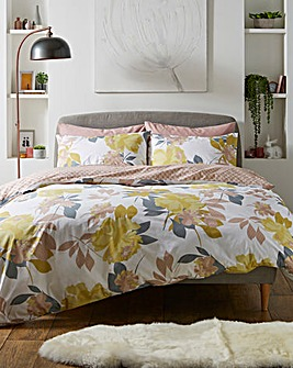 Catherine Lansfield Abstract Floral Reversible Duvet Set