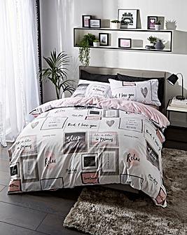 Catherine Lansfield Sleep Dreams Reversible Duvet Cover Set
