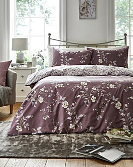 Yasmina Plum Reversible Duvet Set