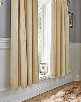 Vantona Verona Jacquard Gold Curtains