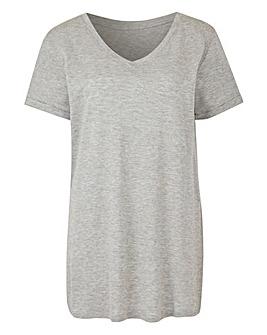 Viscose V Neck T-Shirt