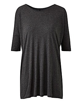 Charcoal Marl Oversized Slouch Tunic