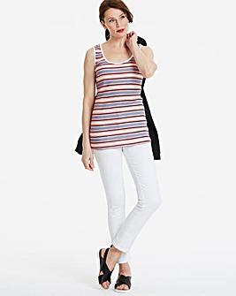 Value Cotton Multi Stripe Vest Top