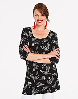 Black Floral Value Cotton Tunic