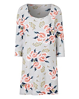 Grey Floral Value Cotton Tunic