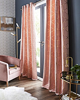 Zita Metallic Geo Eyelet Curtains