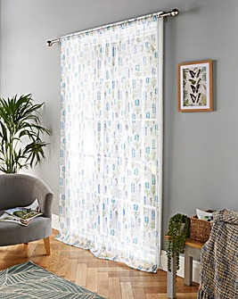 Blossom Floral Print Voile Panel