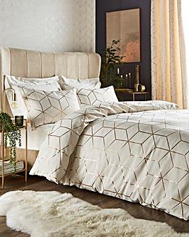 Zita Metallic Jacquard Duvet Set