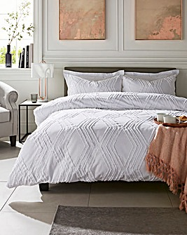 Brook Cotton Tufted Jacquard Duvet Set