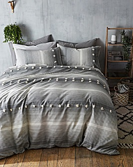 Teagan Tufted Jacquard Duvet Set