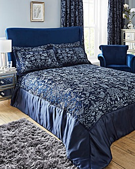 Oak Tree Midnight Blue Throwover Set