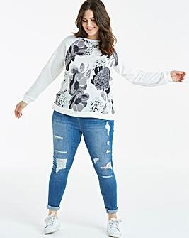 Mono Woven Front Sweatshirt