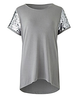 Sequin Sleeve Top