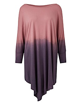 Longer Length Pink/Grey Dip Dye Tunic