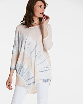 Longer Length Embellished Tie Dye Tunic