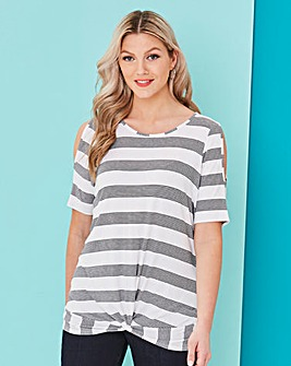 Twist Front Cold Shoulder Top