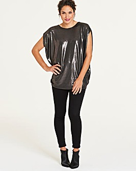 Metallic Cape Tunic