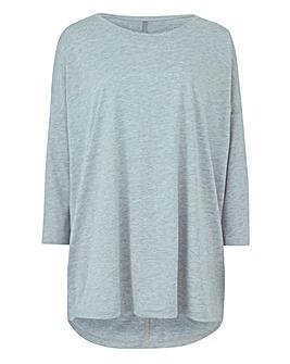 Grey Marl Oversized Drop Sleeve Tunic