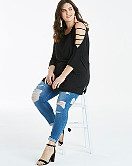 Strappy Cold Shoulder Tunic