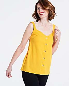 Ochre Button Down Cami Top