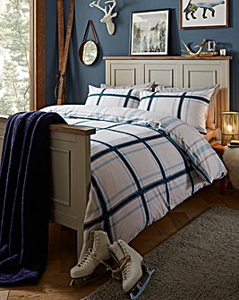 Brushed Cotton Petrol Duvet Cover Set