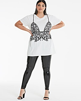 Bralette Lace Print Tunic