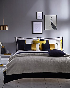 Karen Millen Cotton Block Duvet Set