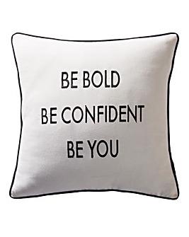 Karen Millen Slogan Square Cushion
