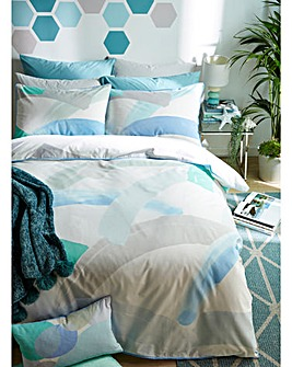 Brook Reversible Duvet Cover Set
