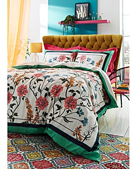 Nian Cotton Reversible Duvet Cover Set