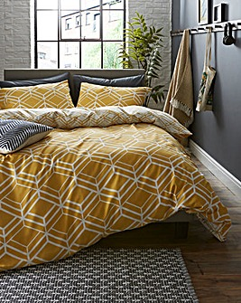 Network Geo Reversible Duvet Cover Set