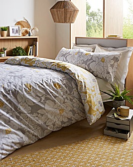 Saskia Floral Reversible Duvet Cover Set
