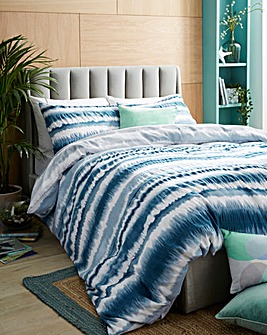 Tie Dye Seersucker Duvet Cover Set